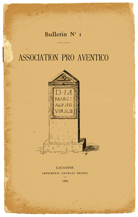 Bulletin de l'Association Pro Aventico